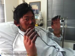 Kuriki nach seinem gescheiterten Versuch 2012