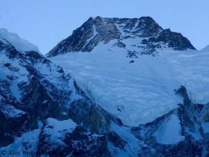 Gipfel des Nanga Parbat, heute morgen vom Basislager aus