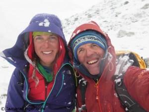 Tamara (l.) und Simone am Island Peak