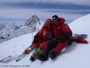 Alix und Luis 2011 auf dem Gipfel des Broad Peak