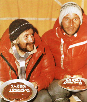 Wielicki (l.) und Cichy nach ihrem Gipfelerfolg