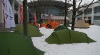 Zelte auf dem ISPO Gelände