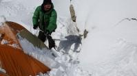 Viel zu schaufeln für Darek nach dem Schneefall