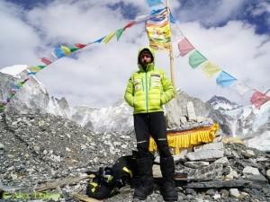 Alex in Everest Base Camp