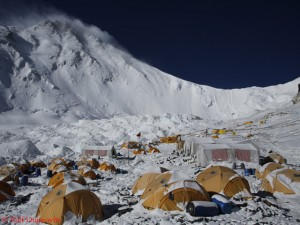 ABC on the north side of Everest before China closed the mountain