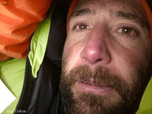 Alex Txikon in high camp on Everest