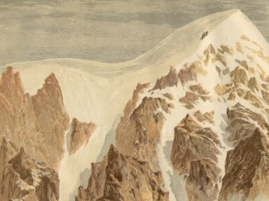 Contemporary illustration of the first ascent