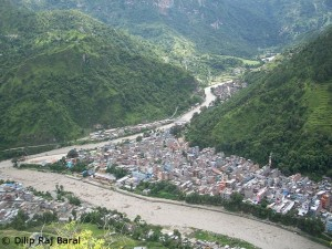 The town of Beni on Kali Gandaki