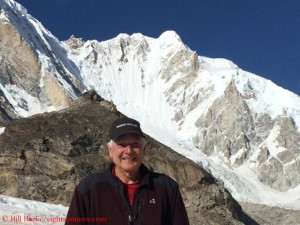 "Bill Burke in front of ""his"" mountain"