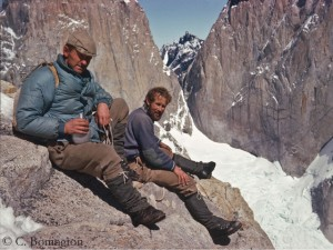 Chris with Don Whillans (l.) in Patagonia in 1963