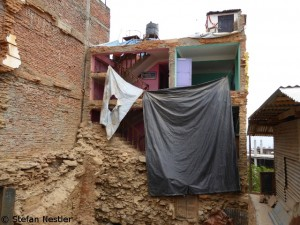 Earthquake wounds in Chautara