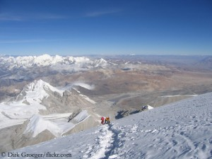 On Cho Oyu (8,188 m) in Tibet