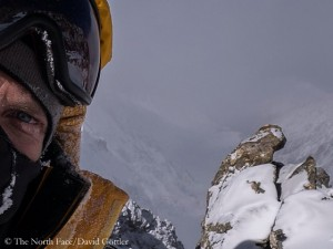 David during his summit attempt (© The North Face)