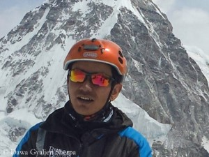Dawa on Lobuche Peak