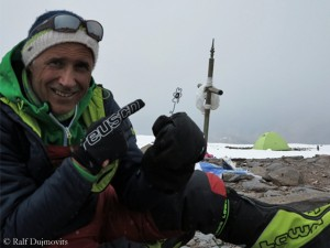 Ralf Dujmovits on the summit of Aconcagua