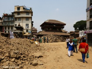 Durbar Square after the quake