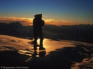 Edi on top of Cho Oyu in 1978 (© Bergspechte/Alois Furtner)