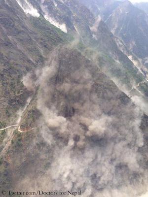 Danger of landslides