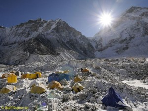 Basecamp on the south side of Everest