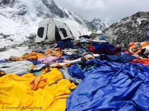 Everest ER after the 25 April avalanche