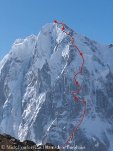 Mick's and Paul's route on Gave Ding