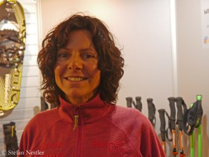 Gerlinde Kaltenbrunner at the ISPO