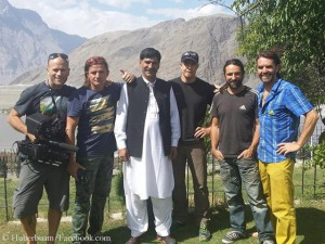 Thomas and Alexander Huber, Dani Arnold, their Pakistani companion Rasool, Mario Walder, Seppi Dabringer (from right)
