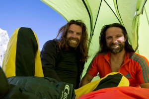 Alexander (r.) and Thomas - in the Karakoram last summer