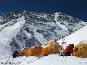 Camp 1 on Everest North Col