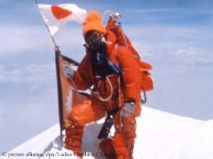 Tabei on the summit of Mount Everest