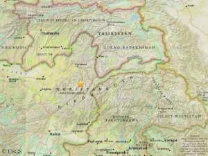 Epicenter of the quake (© USGS)