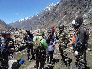 What was formerly Langtang village