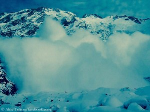 Avalanche on Nanga Parbat