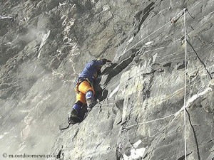 Sung climbing Lhotse South Face