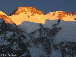 Summit in evening light