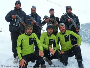Iranian climbers and their guardians