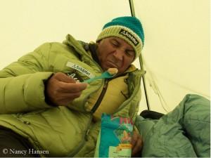 Freeze-dried food at 6,000 meters
