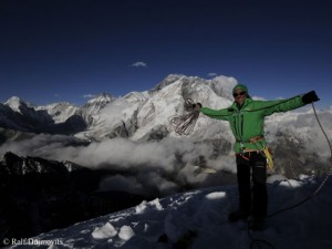 Ralf Dujmovits and Mount Everest (in 2012)