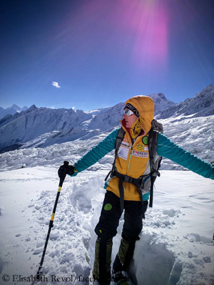 Elisabeth Revol on Manaslu