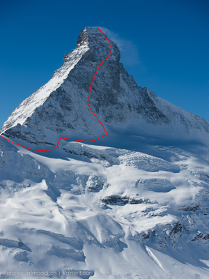 The Schmid route via the Matterhorn North Face