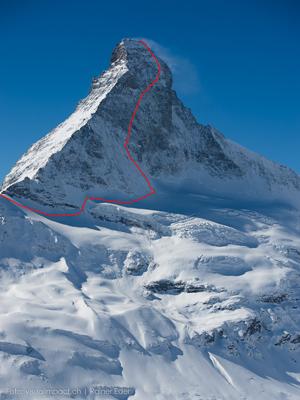 The Schmid route via the Matterhorn North Face
