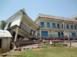 The school in Thulosirubari after the earthquake