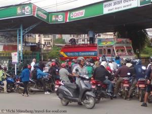 Run on scarce petrol