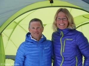 Alix von Melle (r.) and Luis Stitzinger