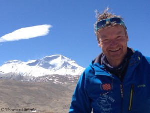 Thomas, in the background Cho Oyu
