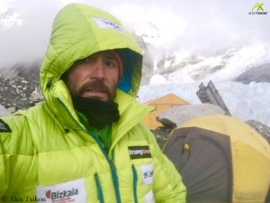 Alex Txikon in Everest Base Camp