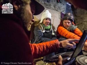 "Cleo Weidlich with climbers of ""Nanga Dream"" team"