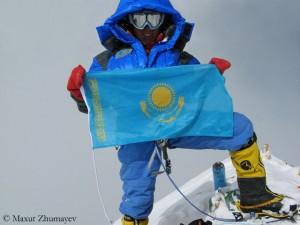 Zhumayev on Mount Everest