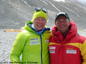 Alix von Melle and Luis Stitzinger in Chinese Basecamp