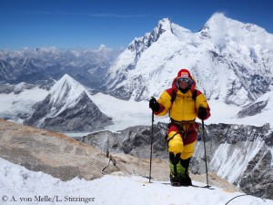 Alix on Makalu